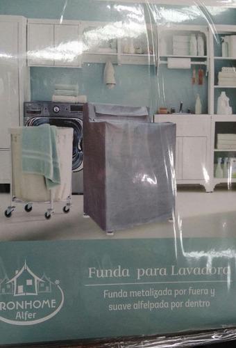 funda lavadora metalizada o gris interior afelpado con envío