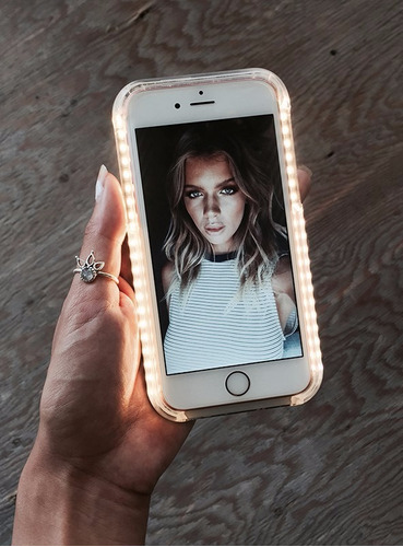 funda led para selfies iphone y galaxy ilumee by foxxtron