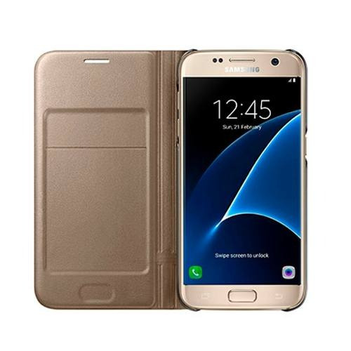 funda led view cover gold galaxy s7 edge original samsung