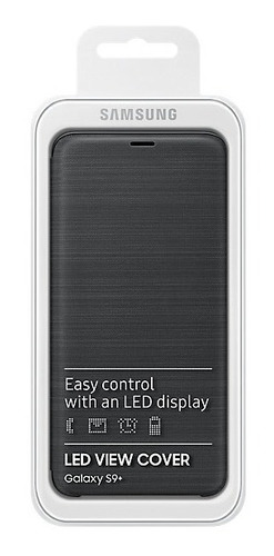 funda led view cover samsung s9+ g965 black