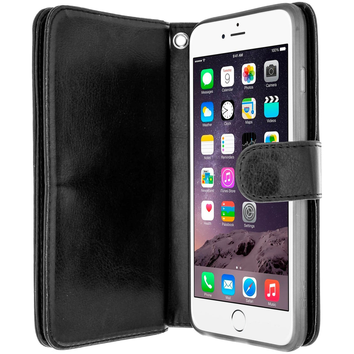 f098a450435 Funda Libro Billetera Para iPhone 6 Plus / 6s Plus - Negra - $ 1.079,96 en  Mercado Libre