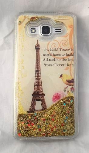 funda liquido iphone 6 / 6g / 6s torre eiffel + mica regalo