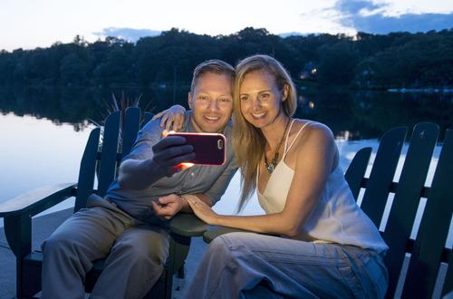 funda lumee iphone 6s plus 6 plus luz selfies nocturnas