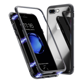 Funda Magnetica Case Aluminio Vidrio iPhone 10 X Xr Xs Max