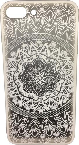 funda mandala case blanco/negro iphone 6,6plus,7 y7plus