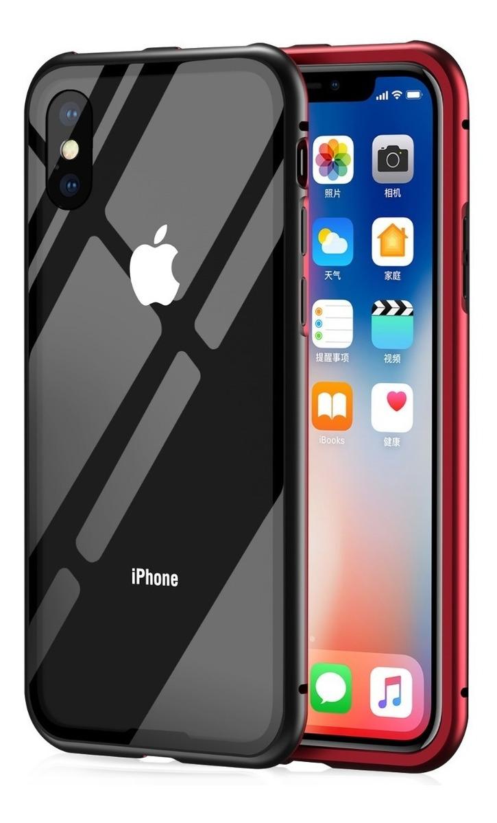 318eefbdbc2 funda metalica magnetica vidrio iphone x xs max 8 7 6 plus. Cargando zoom.