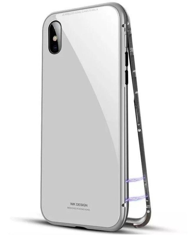 e5c6bfddd61 funda metalica magnetica vidrio trasero iphone x 6 7 8 plus. Cargando zoom.
