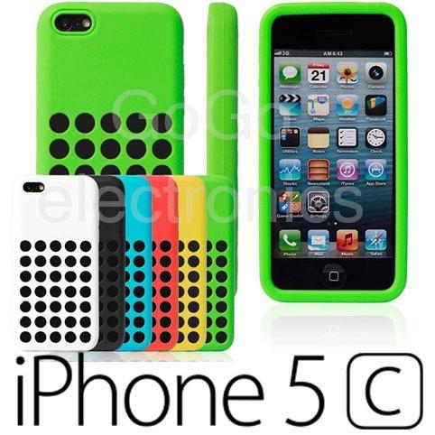 funda + mica de pantalla iphone 5c de apple varios colores