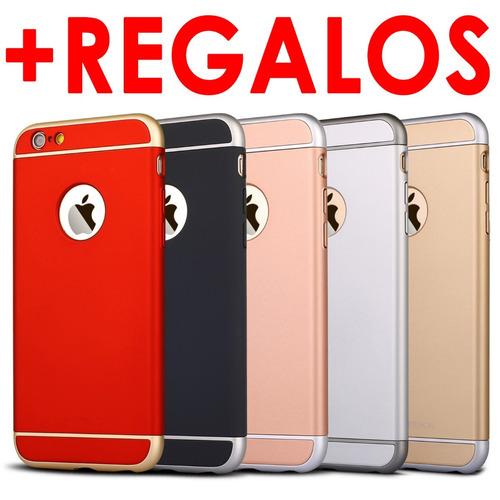 funda +mica iphone 6 6s 7 plus protector slim case 3 en 1