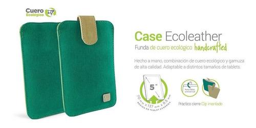 funda microcase sobre ecocuero handcrafted hc 5  celulares