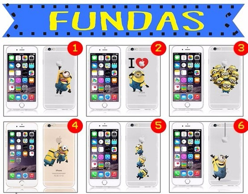 funda minions iphone 6 y 6s + regalo!