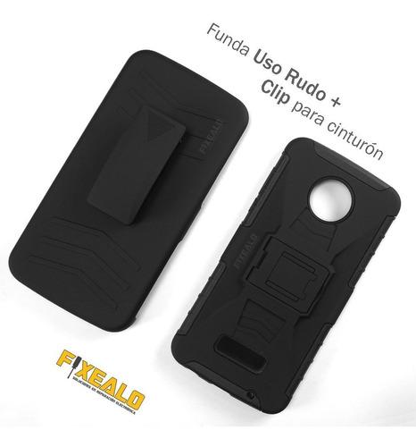 funda moto z z2 z3 play force uso rudo resistente case clip