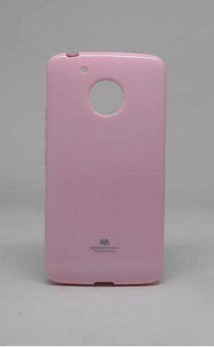 funda motorola g5 mercury goospery jelly case rosa