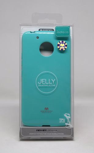 funda motorola g5(normal)  mercury goospery jelly case menta
