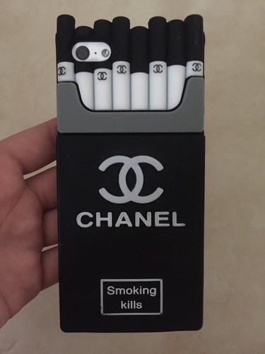 funda negra de cigarros