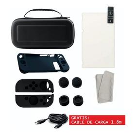 Funda Nintendo Switch Estuche Case Kit Accesorios + Cristal