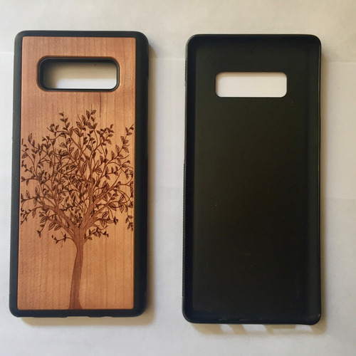 funda note 8 celular case madera