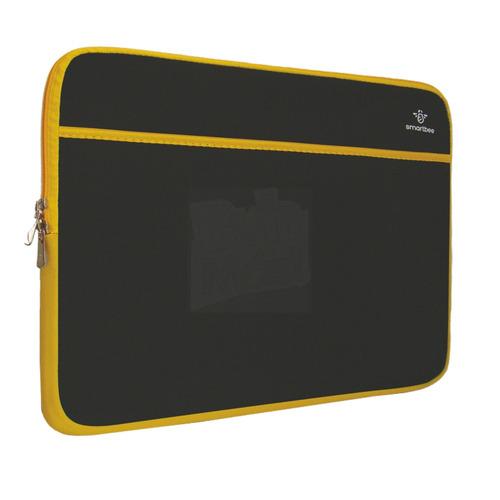 funda notebook 14 negro y amarillo c/bolsillo