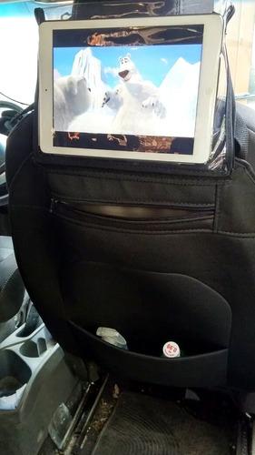 funda organizador para auto con porta tablet ipad respaldo