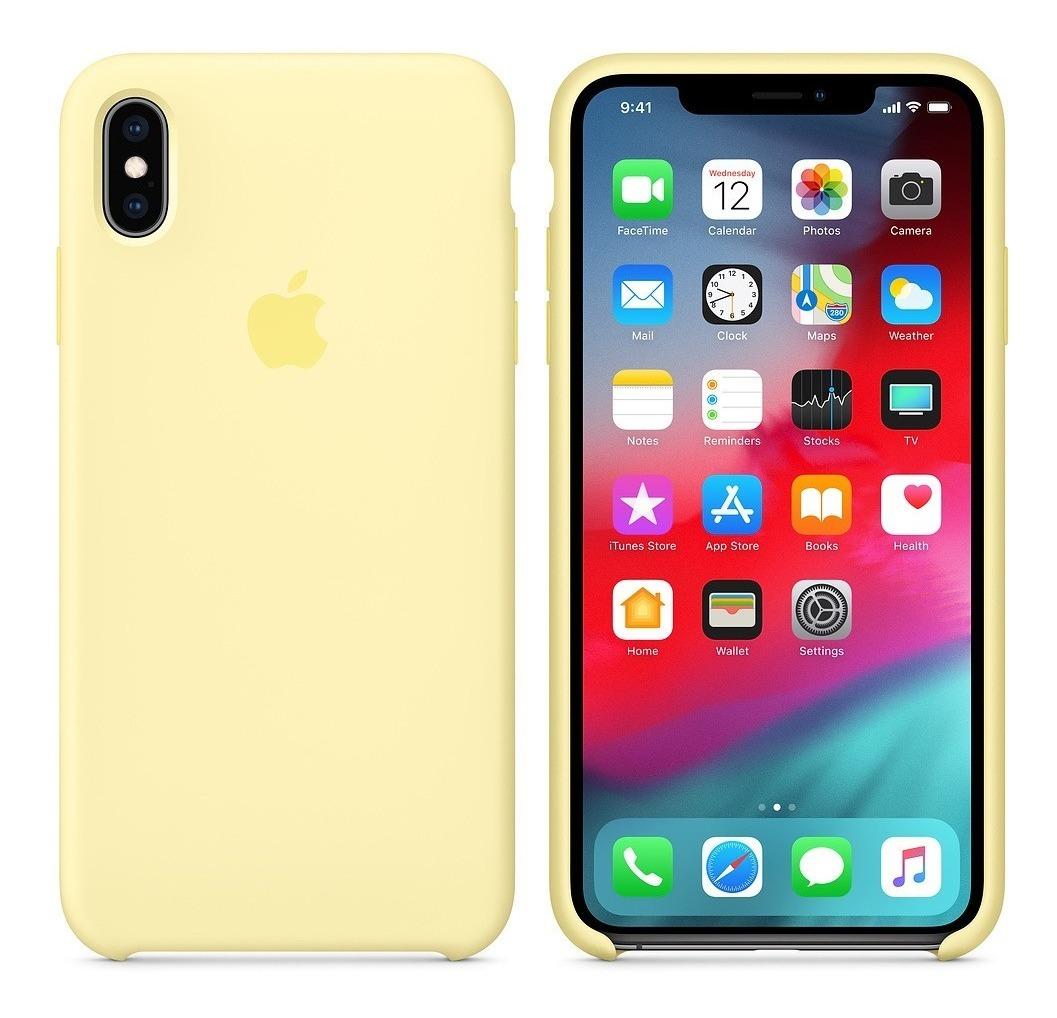 Funda iPhone XS MAX original apple Silicon en Gustavo A. Madero