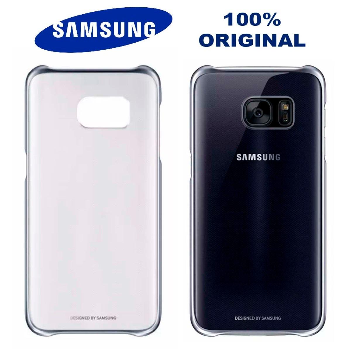 Funda Original Clear Aluminio Galaxy S7 Flat Black Samsung 490 Cargando Zoom
