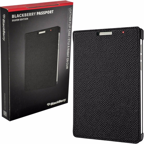 funda original flip case para blackberry passport silver