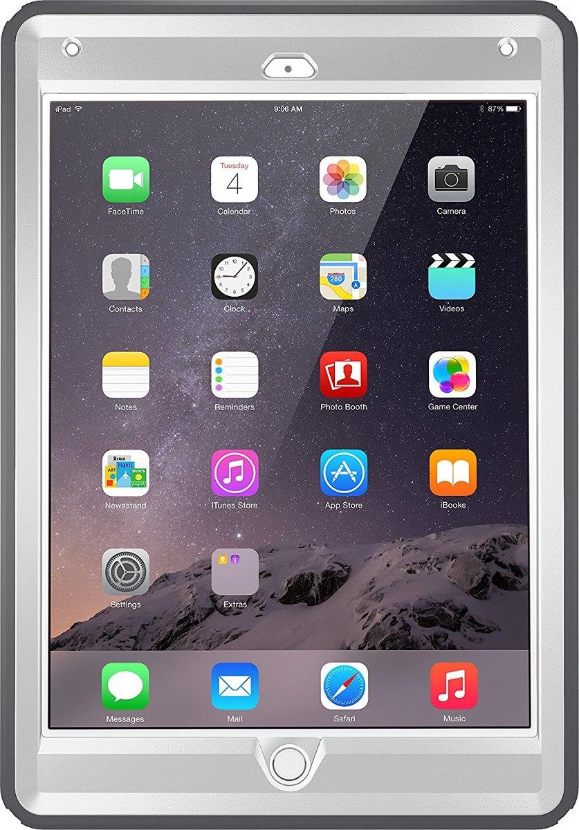 wholesale dealer 56b63 8b667 Funda Otterbox Defender Series Para iPad Air 2 -gris/blanco