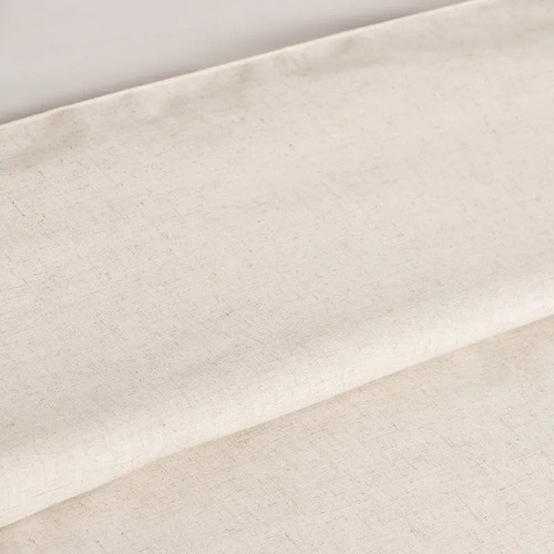 funda para acolchado queen size lino lisa  natural