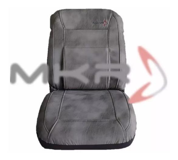 Asiento delantero cubre ajuste FIAT DOBLO Cuero Negro//Gris