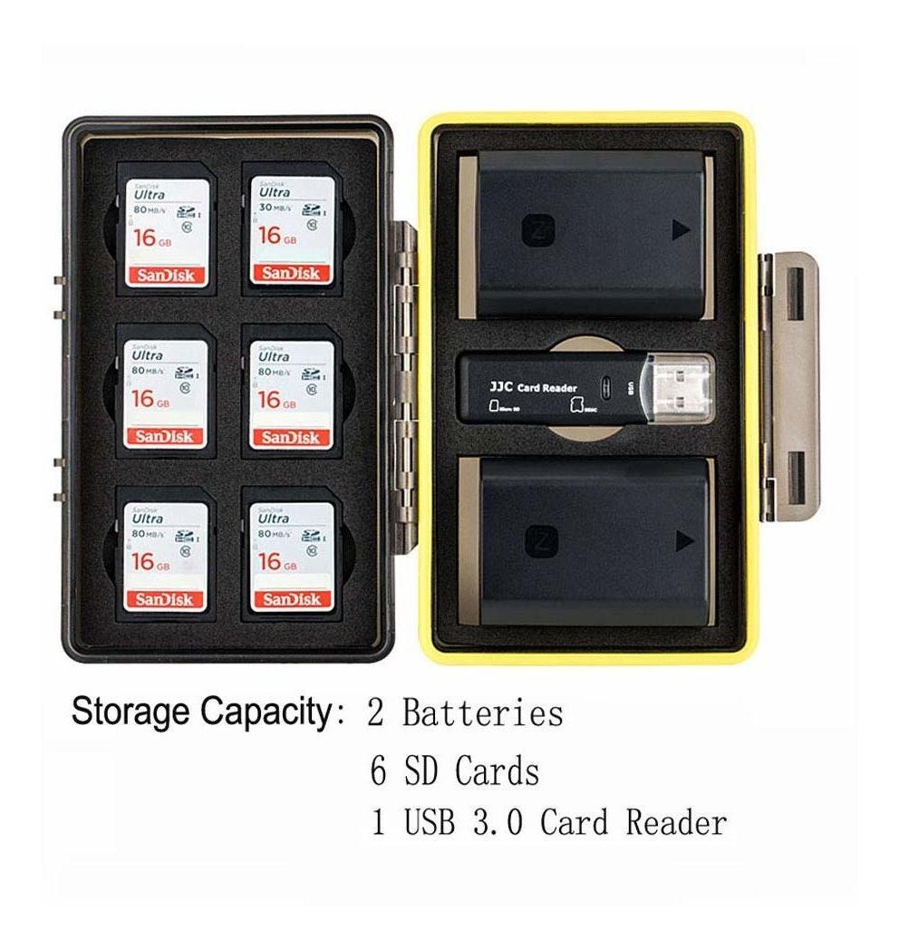 Estuche de tarjeta SD para Canon LP-E6 Nikon EN-EL15 Sony NP-FZ100 Olympus Batería de la Cámara