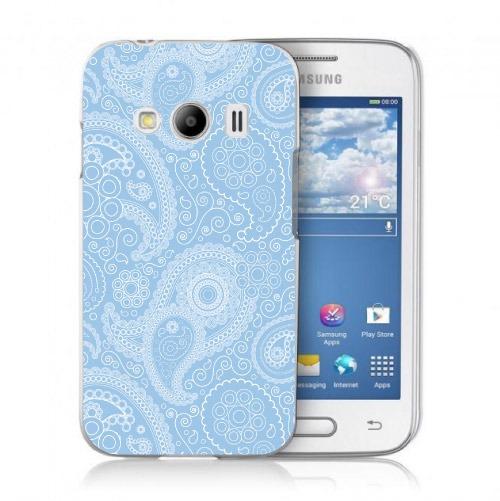 389ee4dc339 Funda Para Celular Samsung J1 2016 - Paisley Azul Con Blanco ...