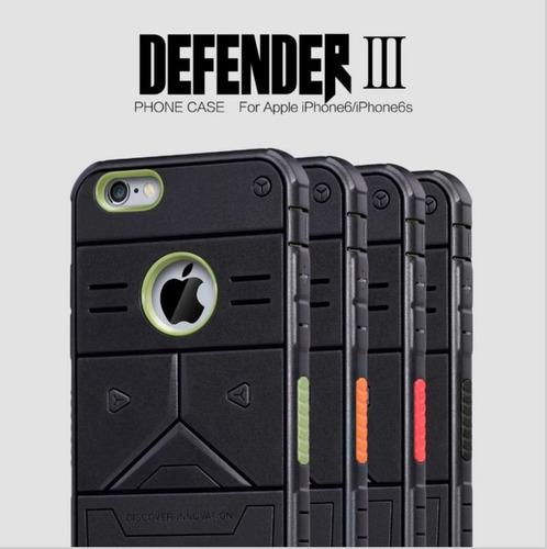 funda para celular iphone 6 6s defender iii hibrido de lujo