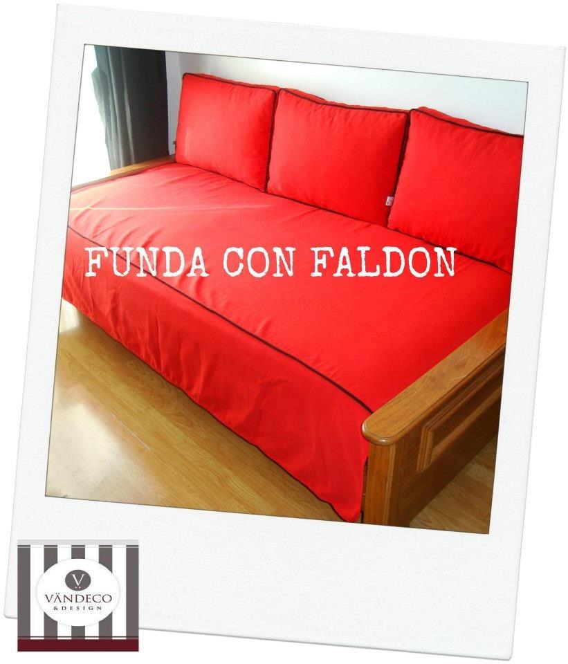 Funda con vivo y faldones para colchon divan cama sillon for Sillon con colchon