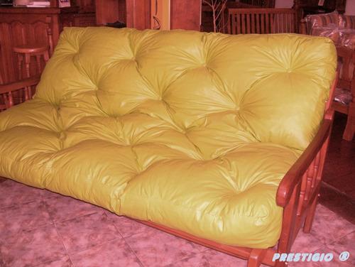 funda para colchón de futón - ecocuero - 3 cpos.
