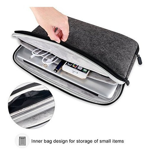 funda para computadora portatil con funda de fieltro bolsa c