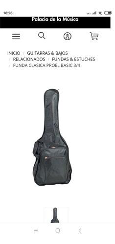 funda para guitarra criolla/ electroacústica