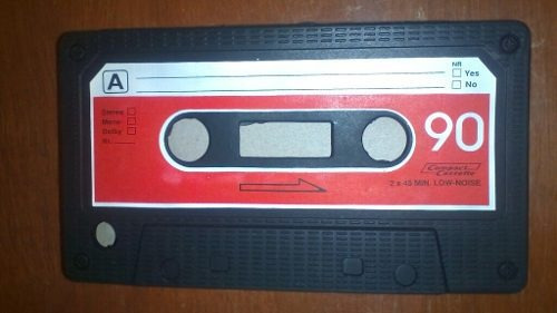 funda para iphone 3g/3gs cassette. funda de plastico