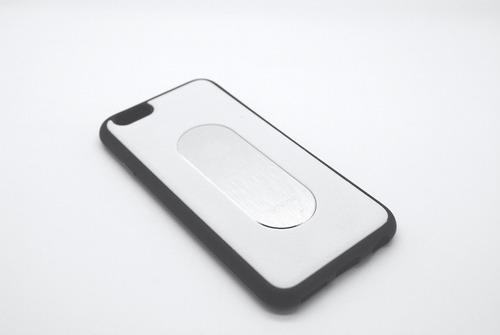 funda para iphone 6 - 6 plus simil cuero + vidrio de regalo