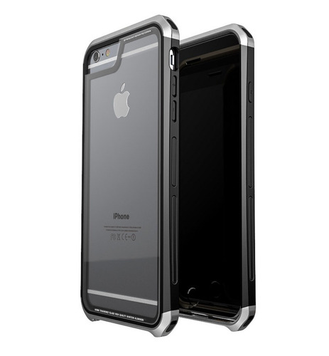 funda para iphone 6 / 6s - hdx case de cristal templado