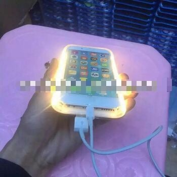 funda iphone 6 con luz