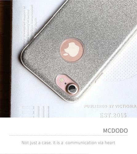 funda para iphone 7 mcdodo diamantina plateado