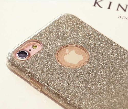 funda para iphone 7 plus mcdodo diamantina dorada