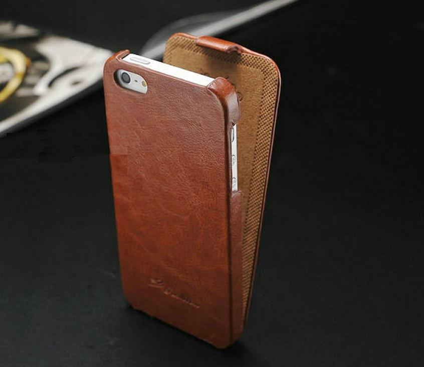 Funda vertical flip de lujo para apple iphone 5 5s 5g en mercado libre - Funda de piel para iphone 5 ...