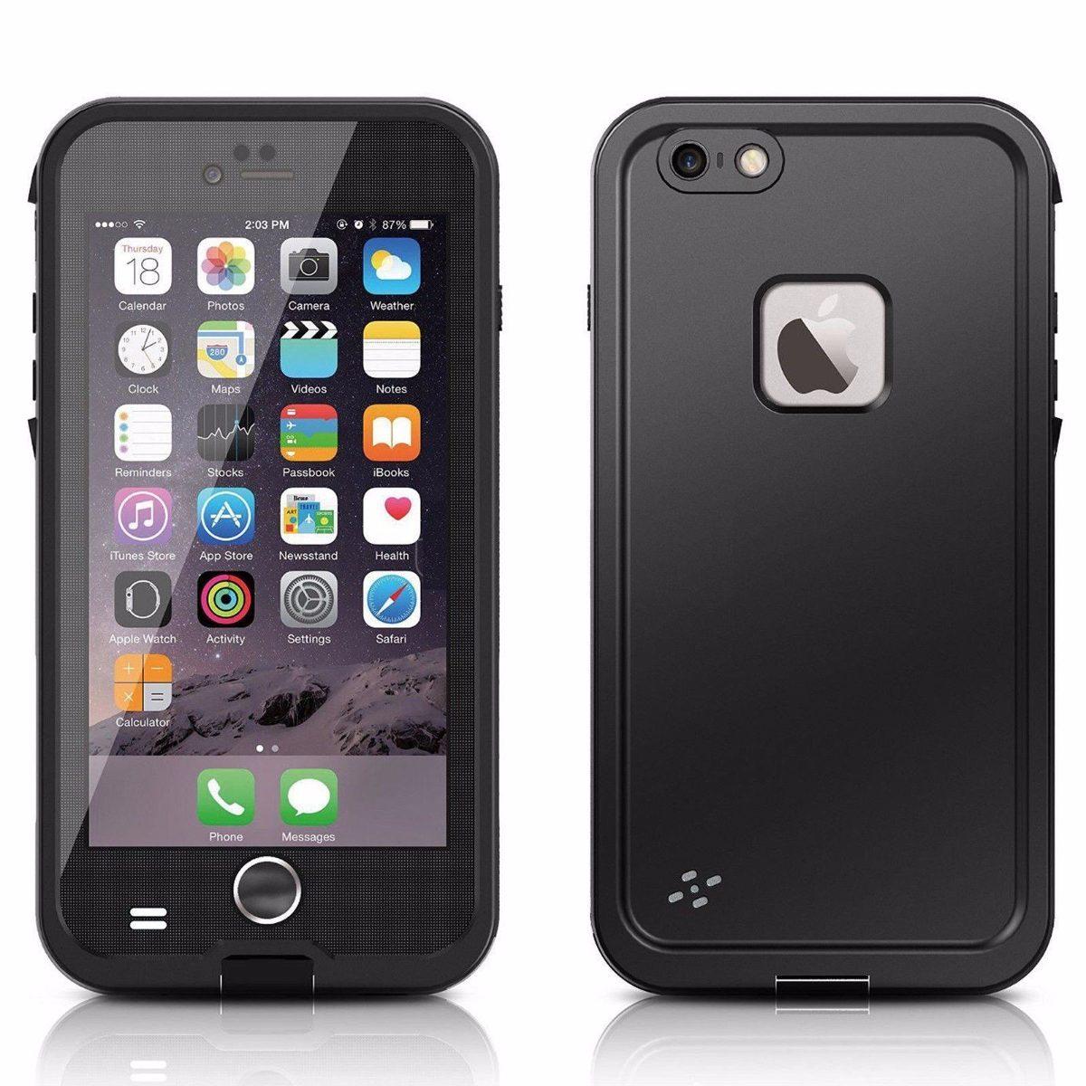 Funda a prueba de agua para iphone 6 4 7 pulgadas negras - Fundas cargadoras para iphone ...