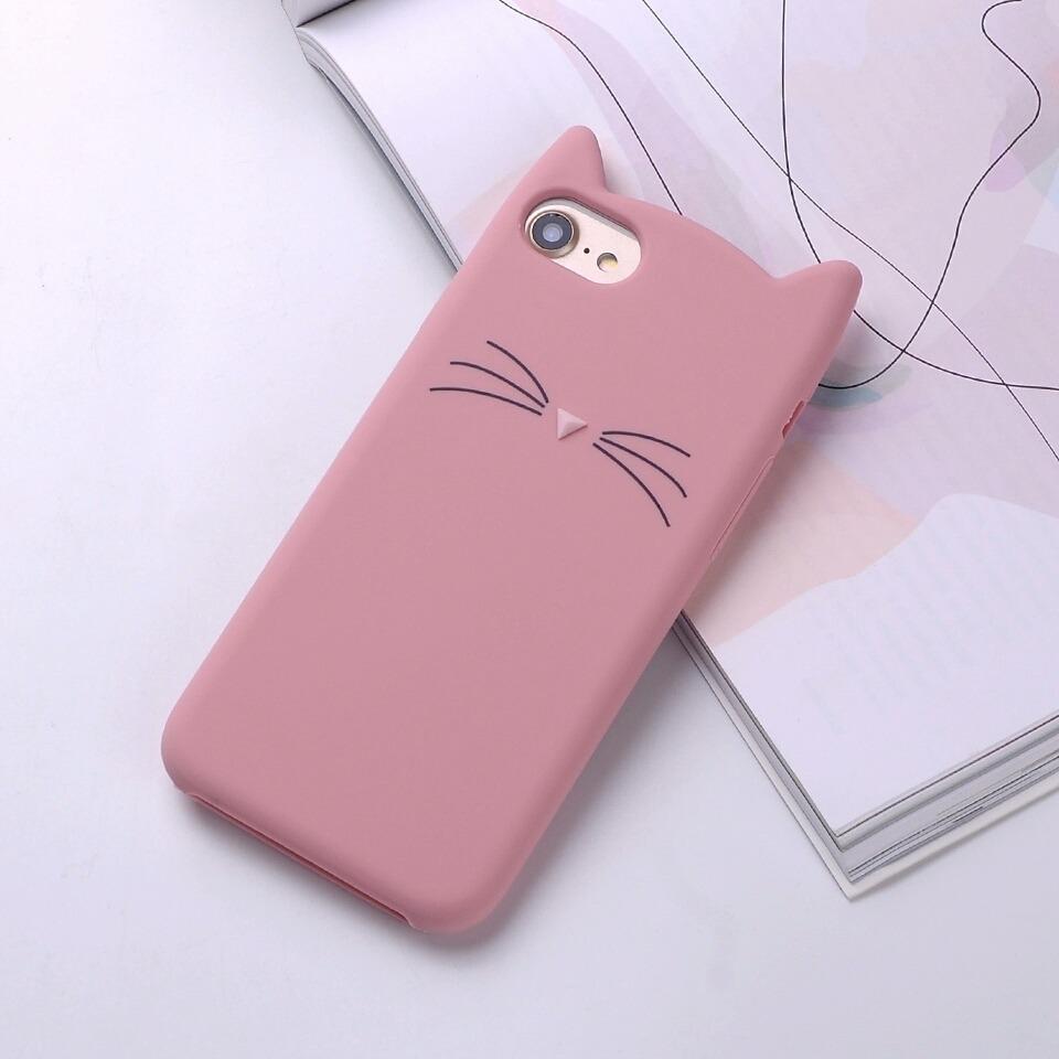 9e4cb292771 Funda Para iPhone De Gato Rosa 6/6s 7/8 ,6p/6sp, 7plus8 Plus ...