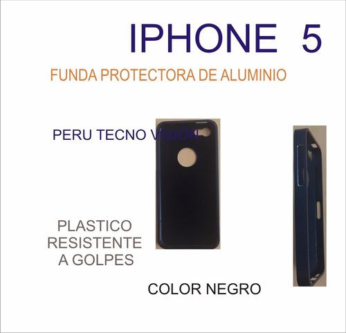 funda para iphone s5 de plástico resistente a golpes