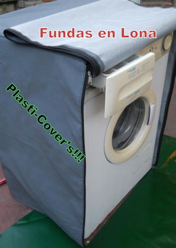 funda para lavarropas en lona 100% impermeable con cierres!