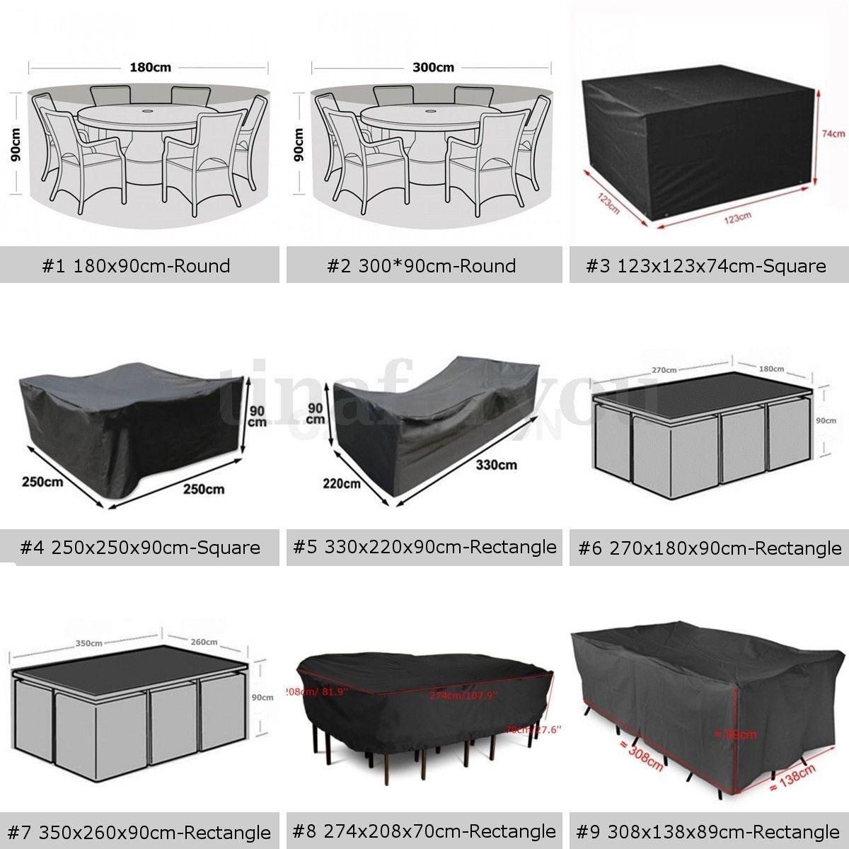 Funda Para Mueble De Jardin Bh Impermeables - $ 700,00 en Mercado Libre