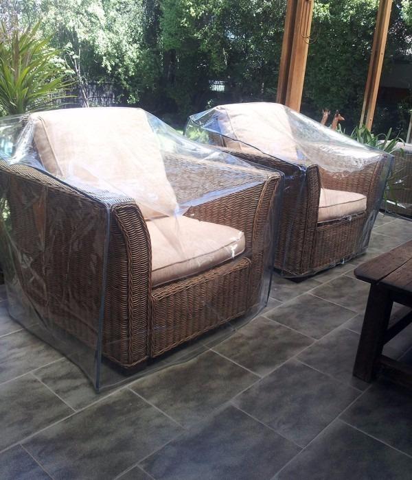 Funda Para Muebles De Exterior Pvc Transparente Impermeable ...