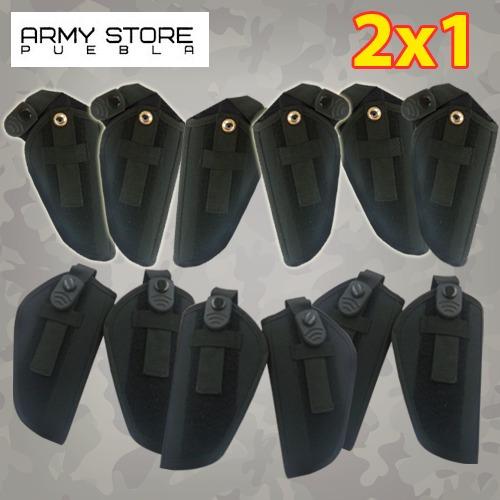 funda para pistola negra p/escuadra 2x1